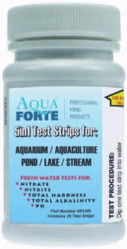 Aquaforte 5 in 1 Teststreifen für Teiche & Süßwasseraquarien