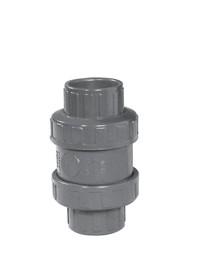 PVC-Rückschlagventil mit O-Ring Doppelte Klebemuffe