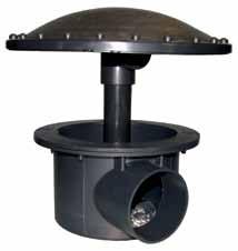 Belüfteter Bodenablauf aus ABS 110 mm