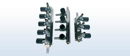 Luftverteiler 4 fach Regelbar Ø 9mm